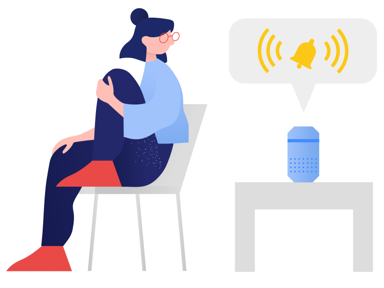 style Smart speaker- notification Vector images in PNG and SVG | Icons8 Illustrations