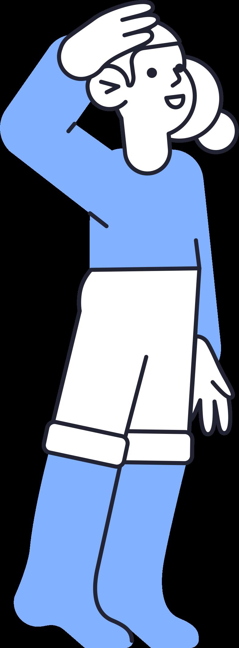 little girl Clipart illustration in PNG, SVG