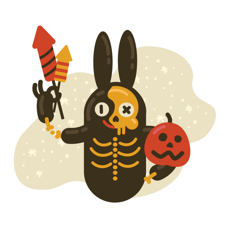 Happy Halloween Clipart illustration in PNG, SVG