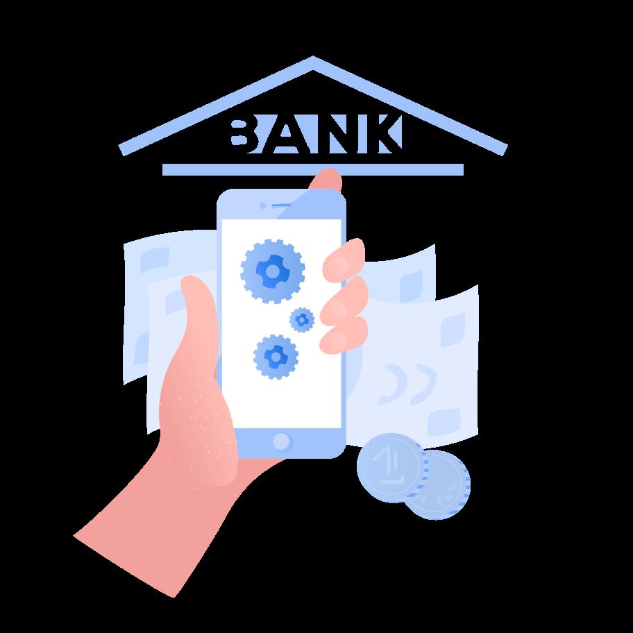 Internet banking application Clipart illustration in PNG, SVG