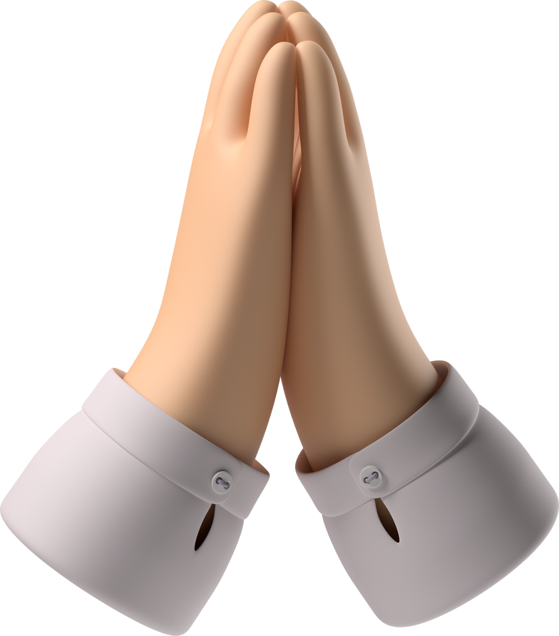 folded hands Clipart illustration in PNG, SVG