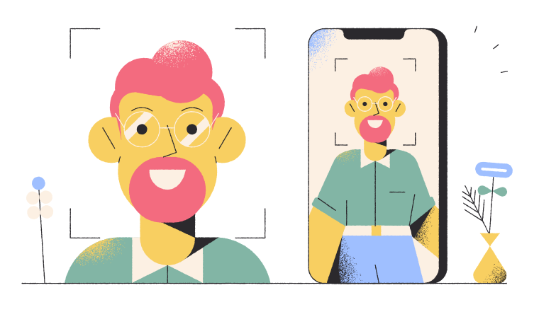 style Face Recognition Vector images in PNG and SVG | Icons8 Illustrations
