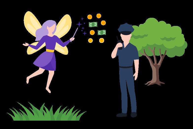 Corruption Clipart illustration in PNG, SVG