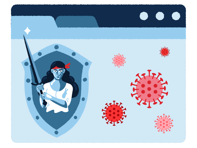 Browser antivirus Clipart illustration in PNG, SVG