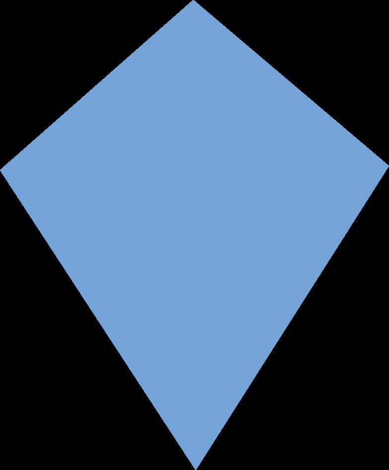 Ilustración de clipart de kite blue en PNG, SVG