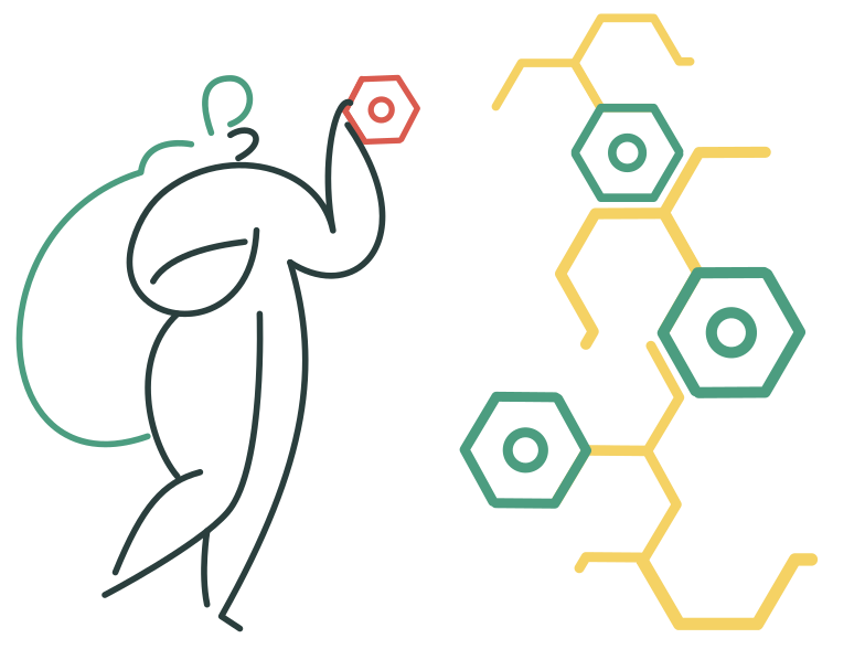 Molecular chain Clipart illustration in PNG, SVG