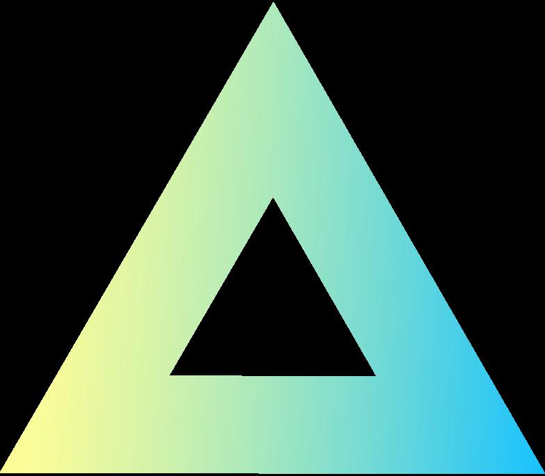 Imágenes vectoriales S nuevo triángulo grdnt en PNG y SVG estilo    Ilustraciones Icons8