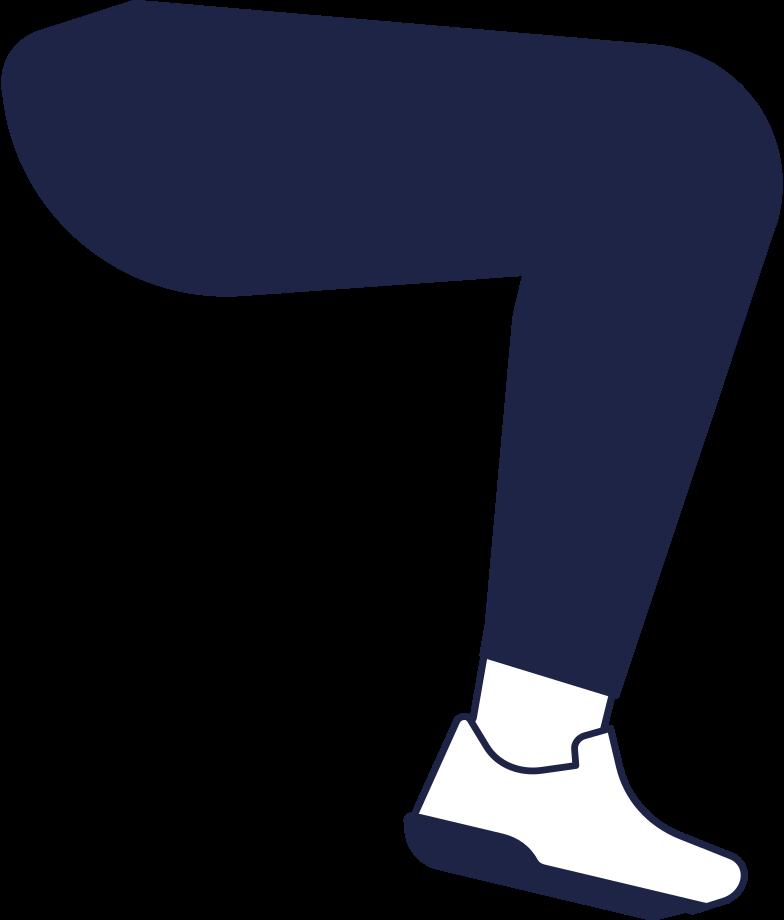 man on bike leg line Clipart illustration in PNG, SVG