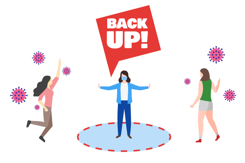 style Back Up! Do not get closer Vector images in PNG and SVG | Icons8 Illustrations