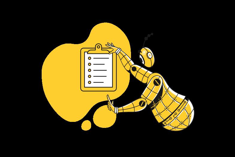 Ilustración de clipart de presentación de tareas en PNG, SVG