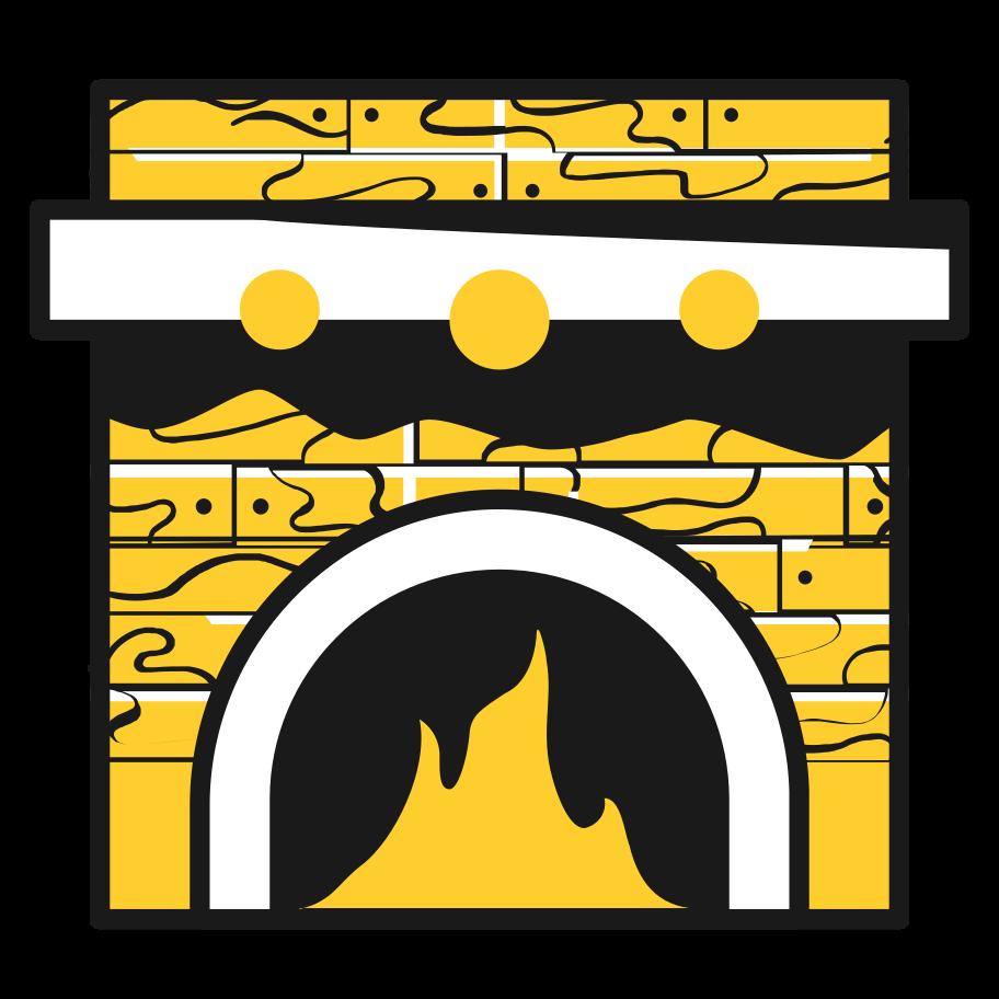 PNGとSVGの  スタイルの 暖炉 ベクターイメージ | Icons8 イラスト