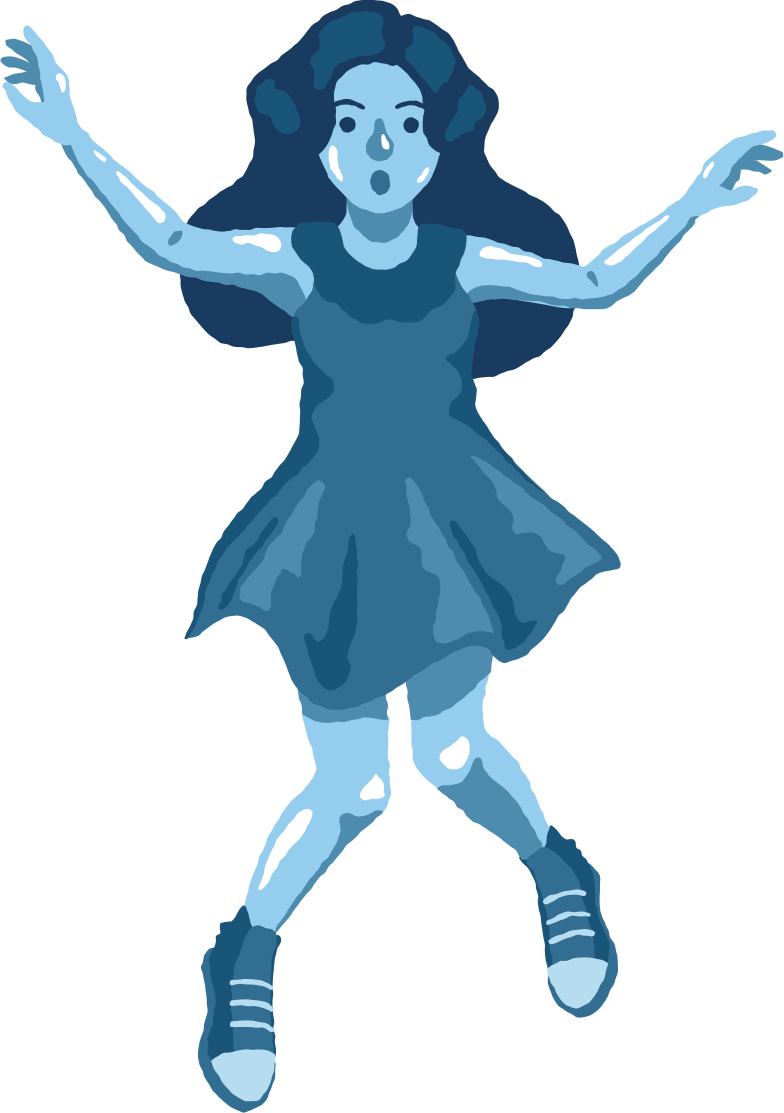 girl jumping front Clipart illustration in PNG, SVG