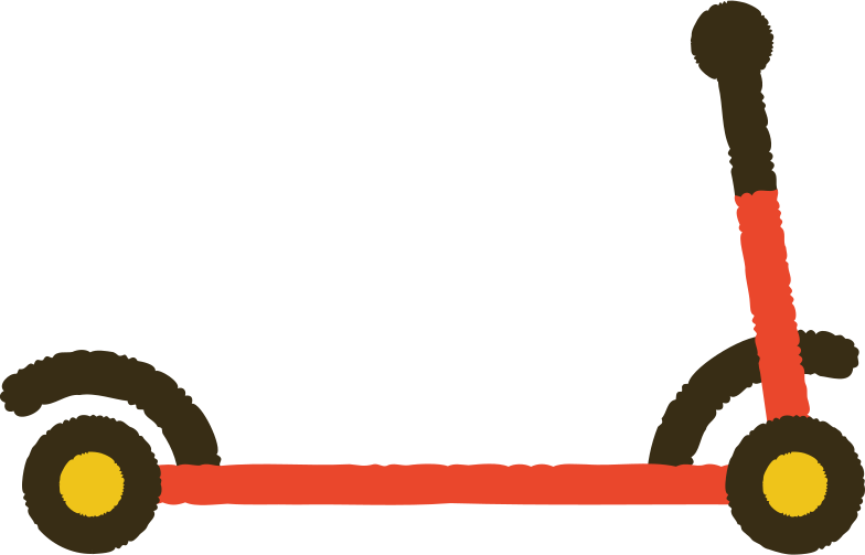 kick scooter Clipart illustration in PNG, SVG