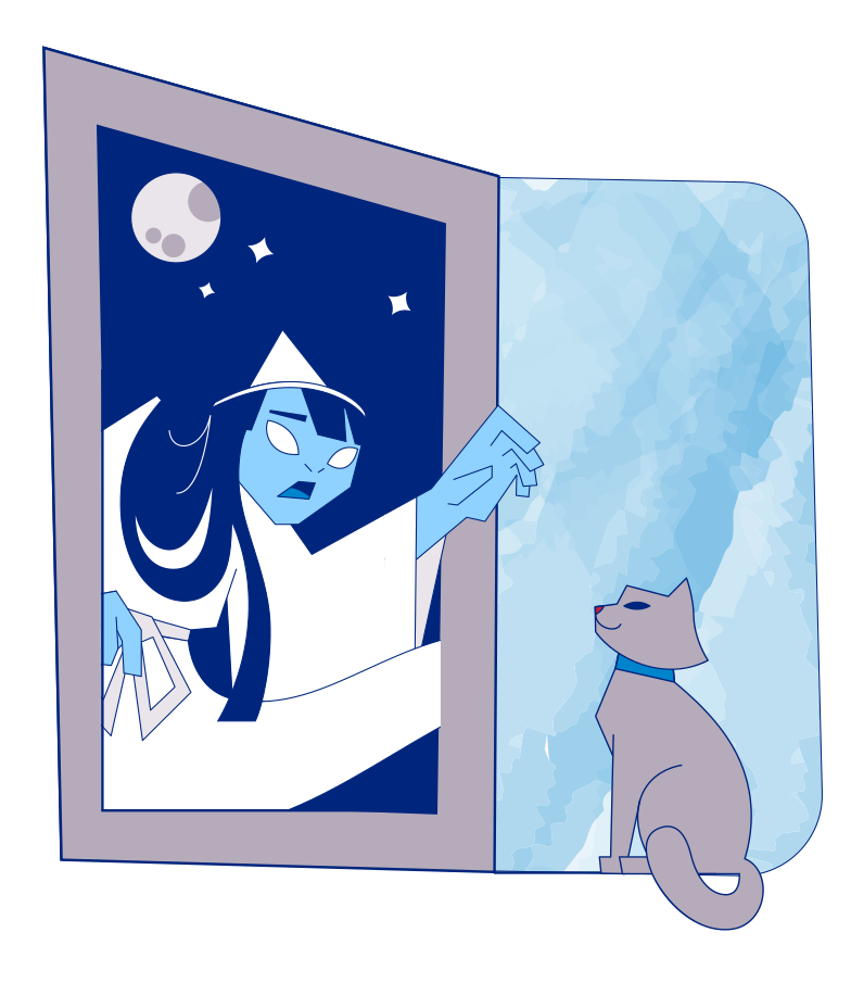 Night guest Clipart illustration in PNG, SVG