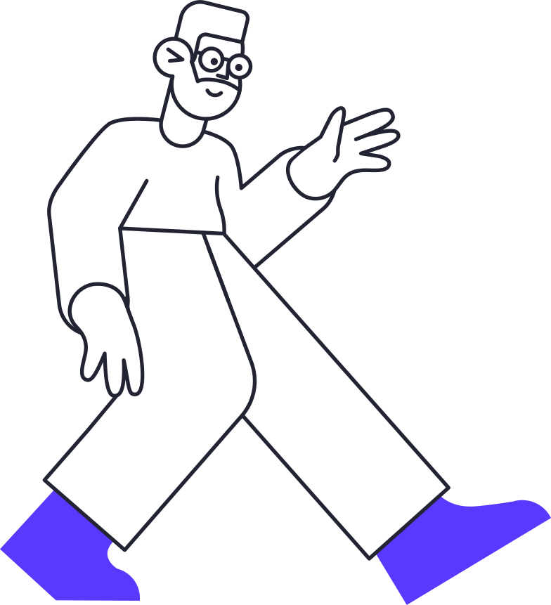 welcoming man Clipart illustration in PNG, SVG