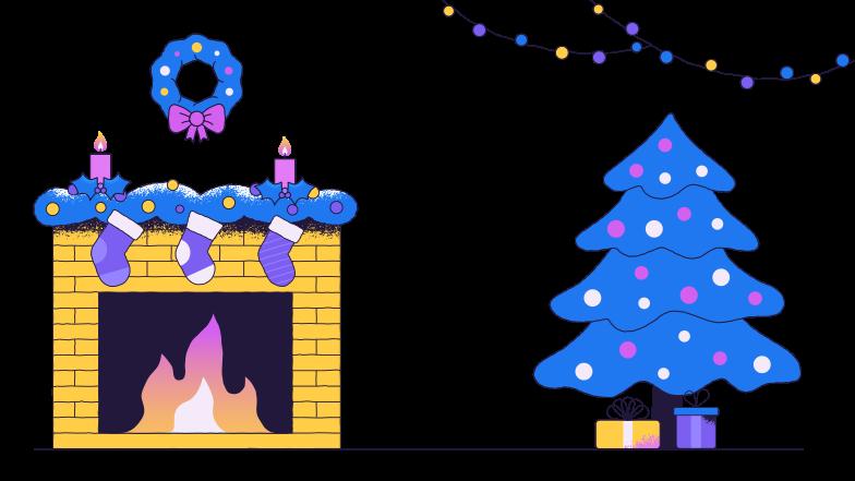 Style  Noël à la maison Images vectorielles en PNG et SVG | Icons8 Illustrations