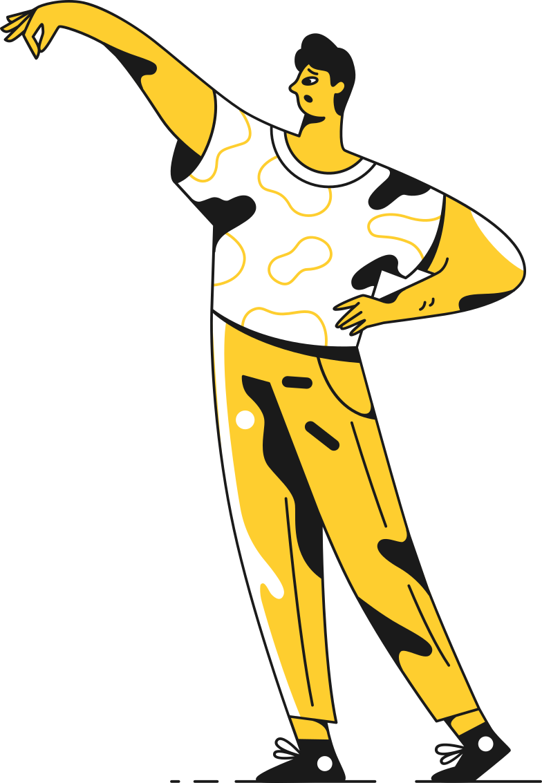 man holding Clipart illustration in PNG, SVG