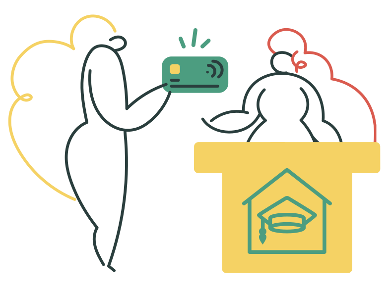 Paid education Clipart illustration in PNG, SVG