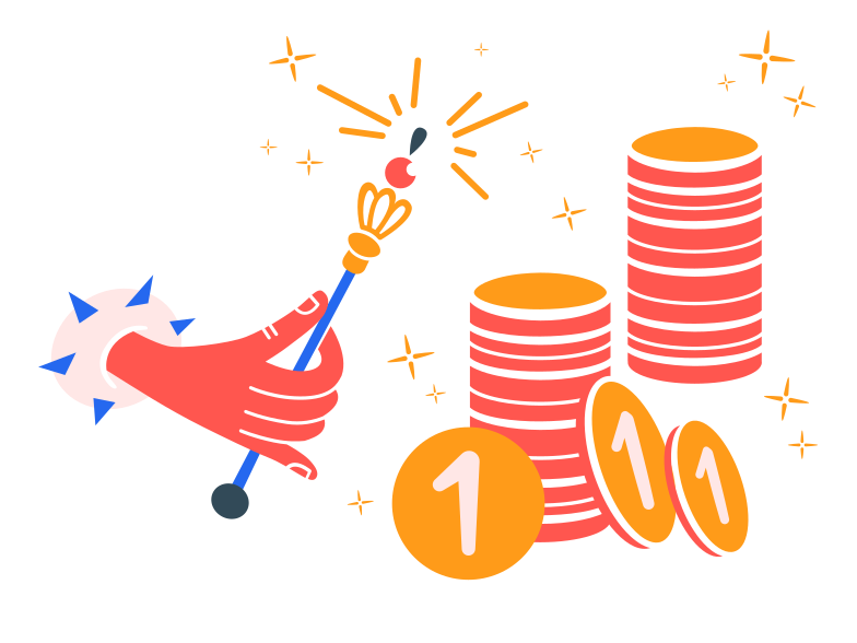 geld beschwören Clipart-Grafik als PNG, SVG