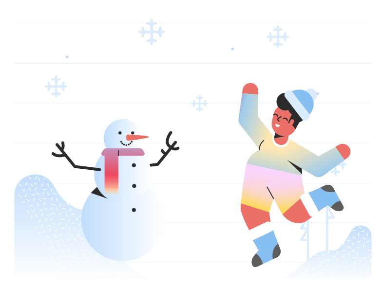 style Playing in snow Vector images in PNG and SVG | Icons8 Illustrations