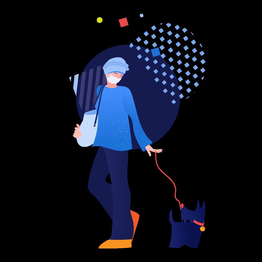 Let's go for a walk Clipart illustration in PNG, SVG
