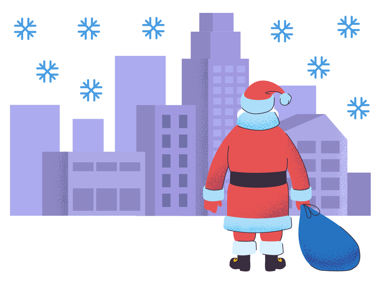 Santa is coming in town Clipart illustration in PNG, SVG