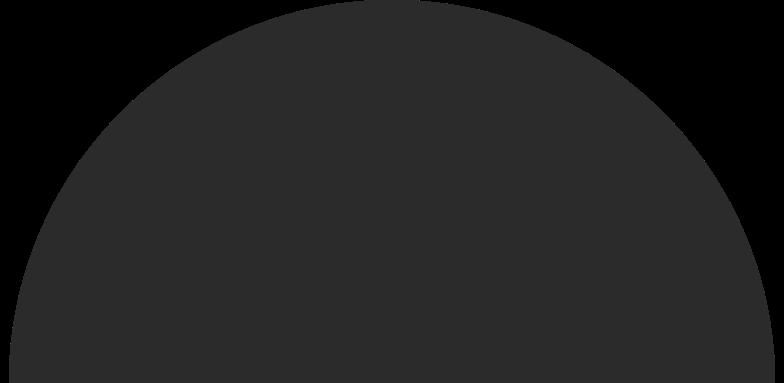 Illustration clipart Demi-cercle noir aux formats PNG, SVG