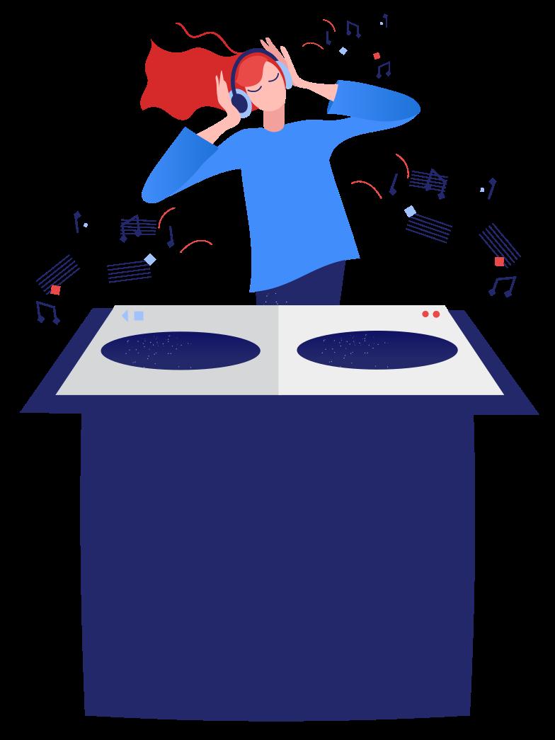 DJ Clipart illustration in PNG, SVG