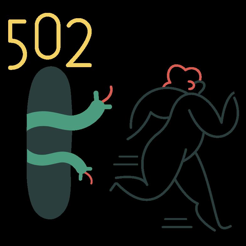 Bad gateway Clipart illustration in PNG, SVG