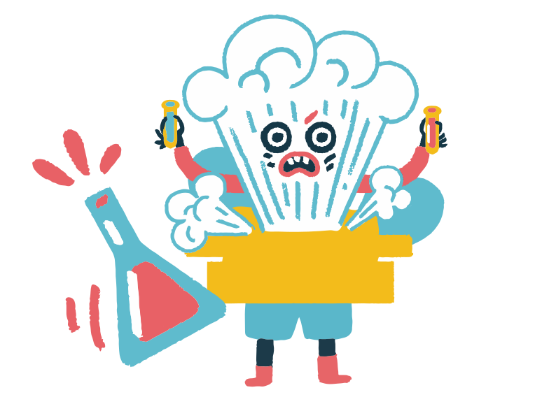 Chemical reaction went wrong Clipart illustration in PNG, SVG