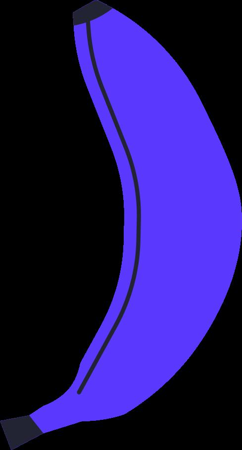 Ilustración de clipart de Banana vida sana en PNG, SVG