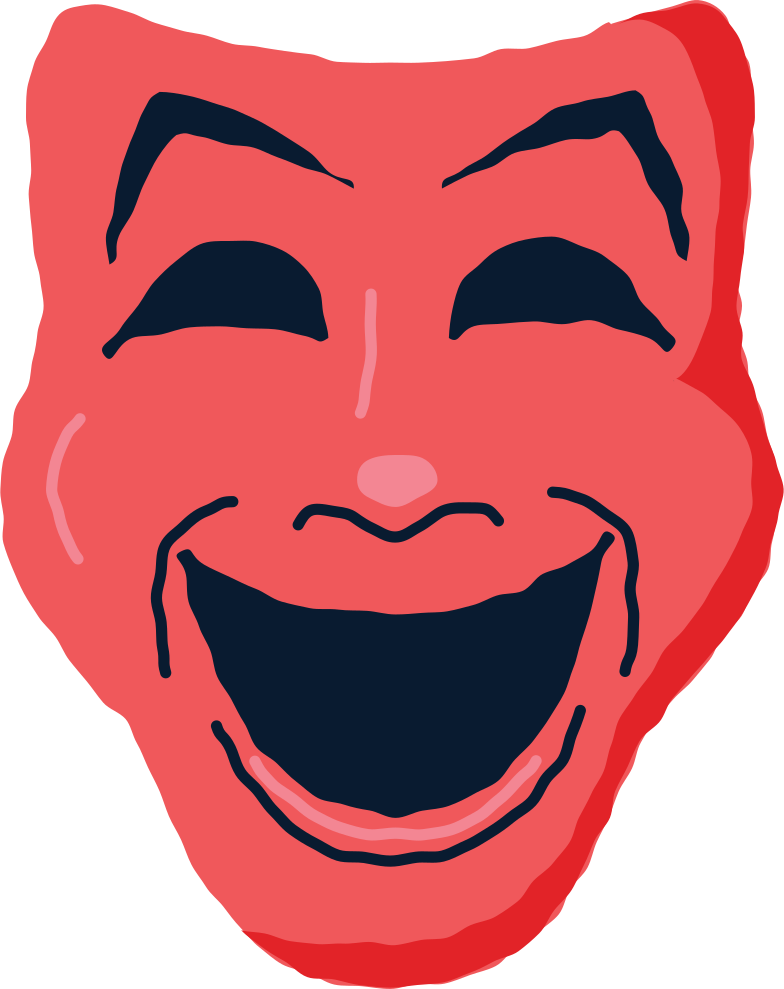 theatrical mask Clipart illustration in PNG, SVG