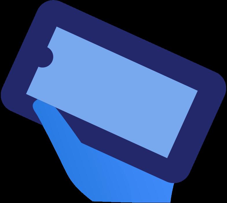 Ilustración de clipart de smartphone hand en PNG, SVG
