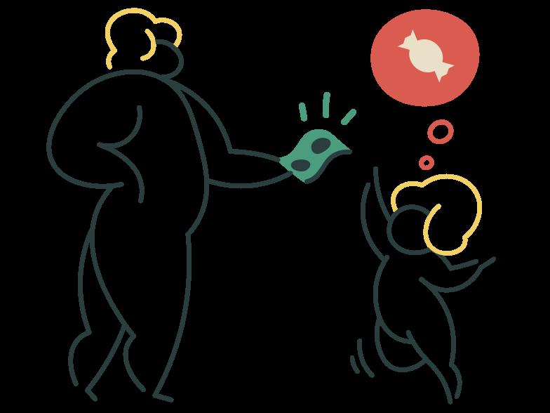Pocket money Clipart illustration in PNG, SVG