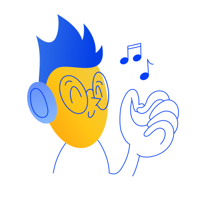 style Listening music images in PNG and SVG | Icons8 Illustrations