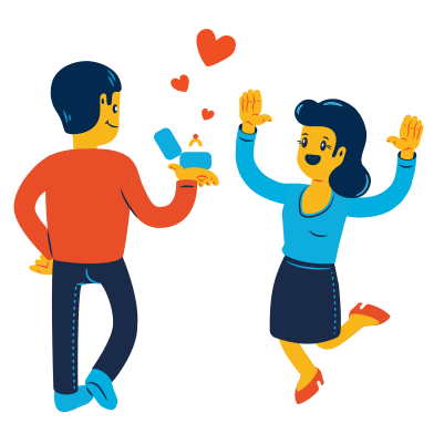 style Marriage proposal images in PNG and SVG | Icons8 Illustrations
