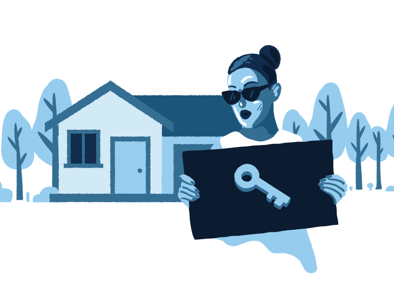 Real Estate Access  Clipart illustration in PNG, SVG