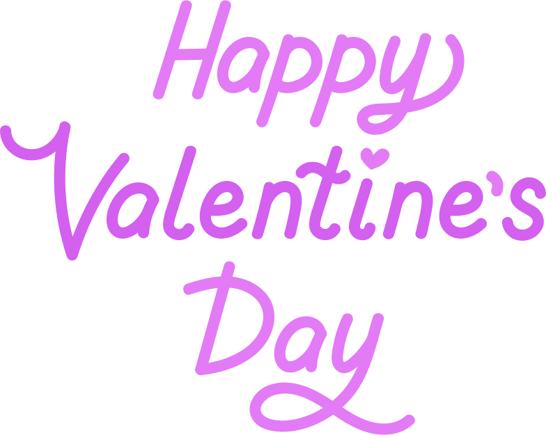 happy valentine day Clipart illustration in PNG, SVG