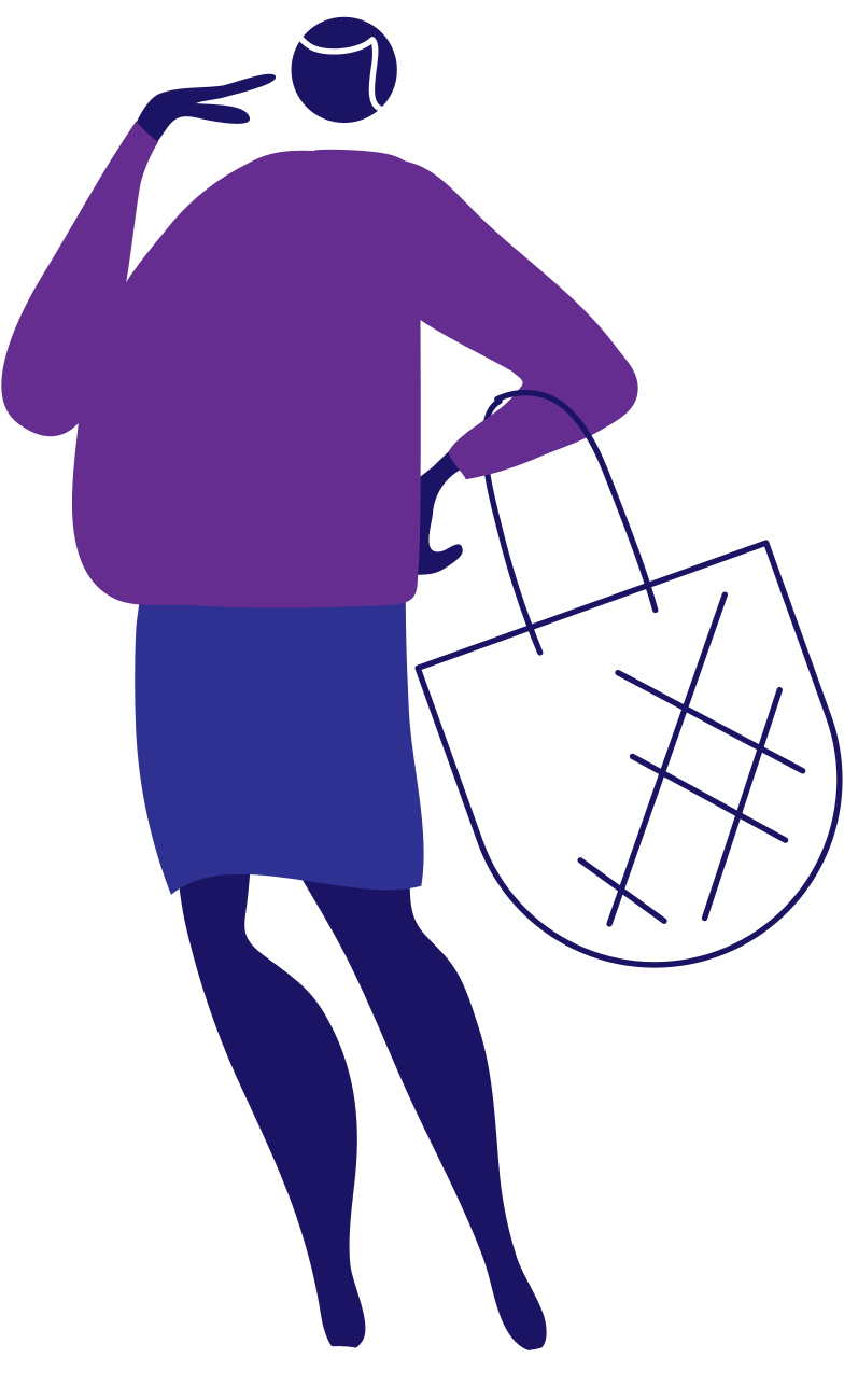y shopping 2 woman Clipart illustration in PNG, SVG