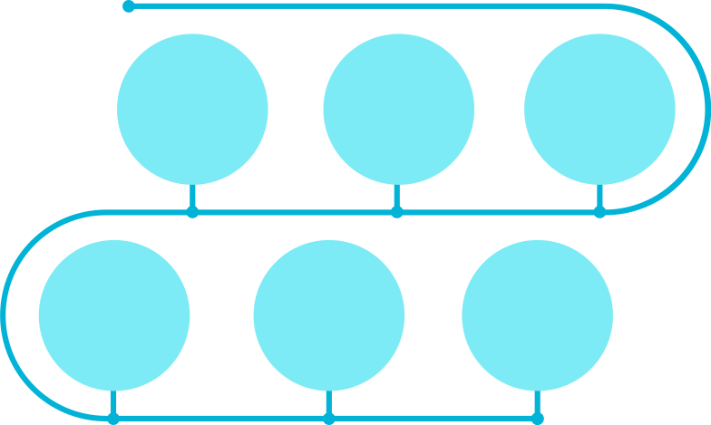 e blue gls timeline Clipart illustration in PNG, SVG
