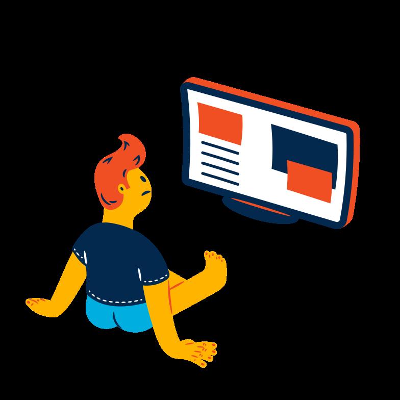Online reading Clipart illustration in PNG, SVG