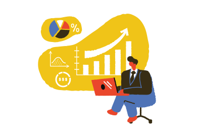 style Businessman working with laptop images in PNG and SVG | Icons8 Illustrations