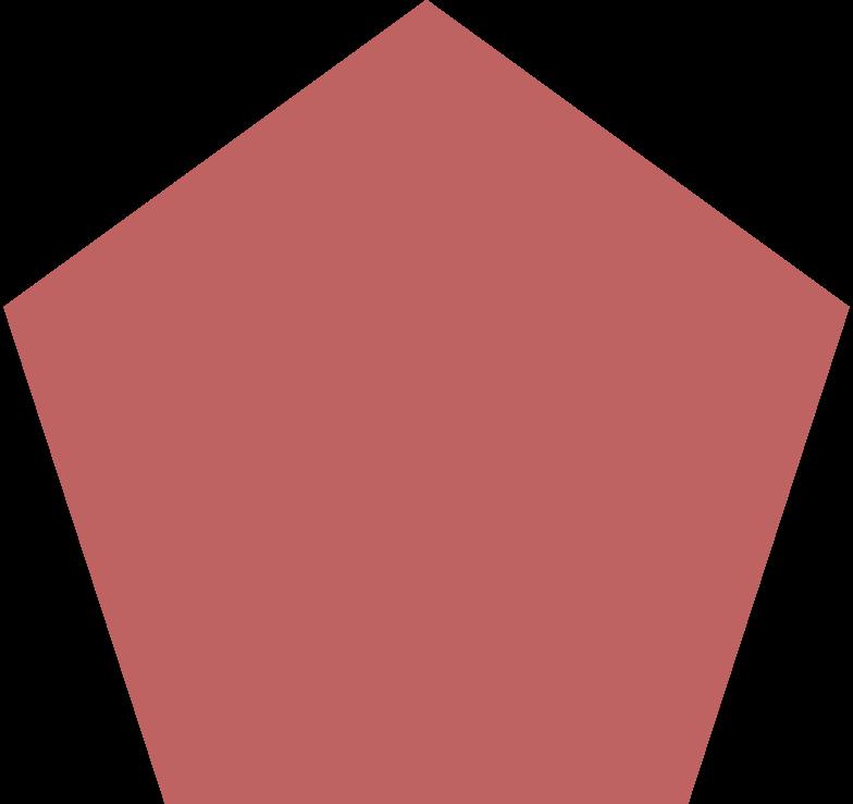 pentagon burgundy Clipart illustration in PNG, SVG