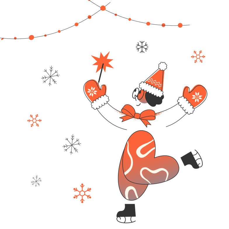 Ice skating Clipart illustration in PNG, SVG