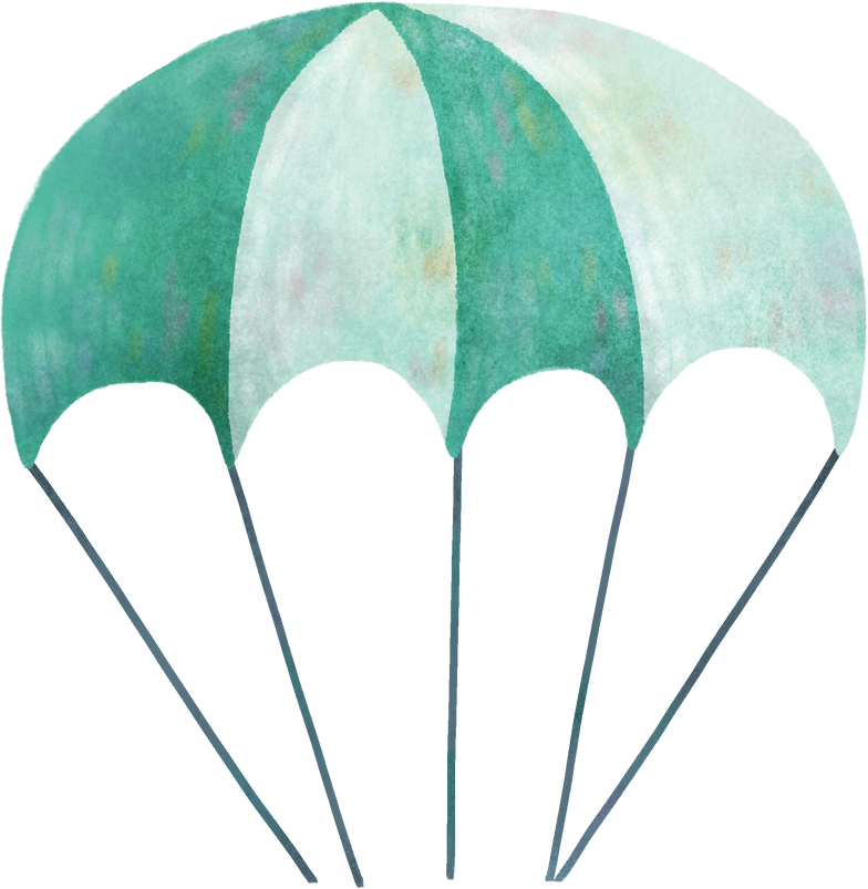 parachute Clipart illustration in PNG, SVG