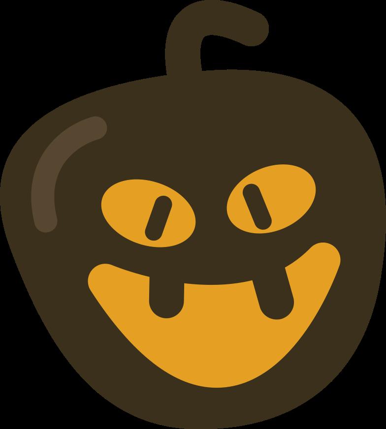 pumpkin halloween Clipart illustration in PNG, SVG