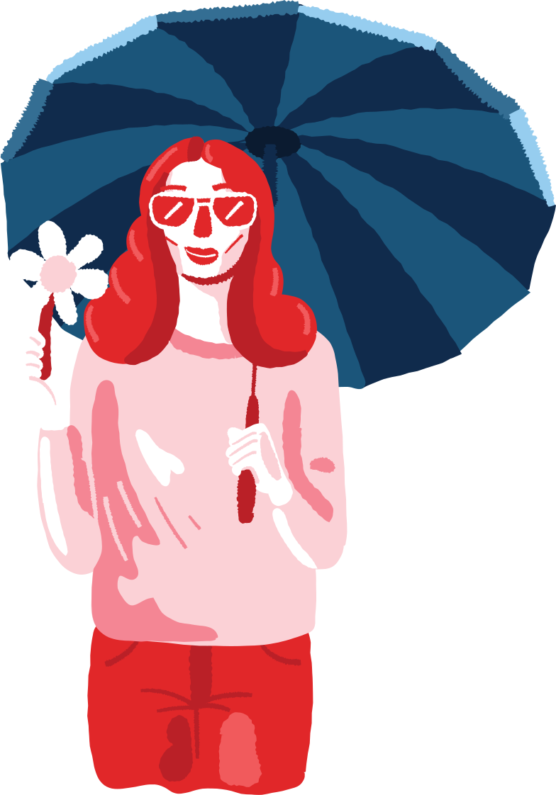 style woman under umbrella Vector images in PNG and SVG | Icons8 Illustrations