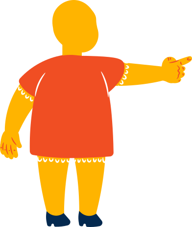 style fat girl points back images in PNG and SVG | Icons8 Illustrations