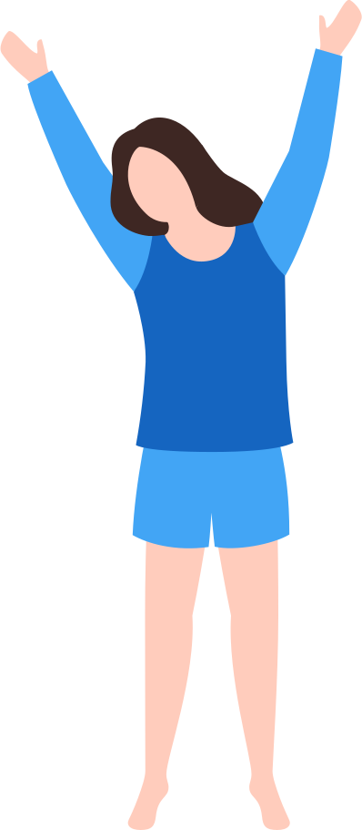 woman in pajamas Clipart illustration in PNG, SVG