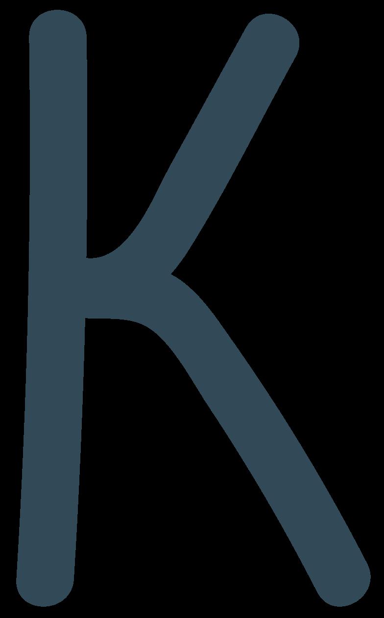 k dark blue Clipart illustration in PNG, SVG